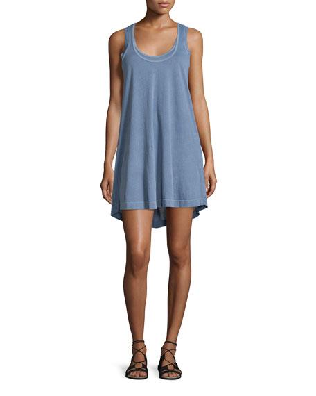 Splendid Vintage Whisper Scoop-Neck Tank Dress, Vintage Blue Ash
