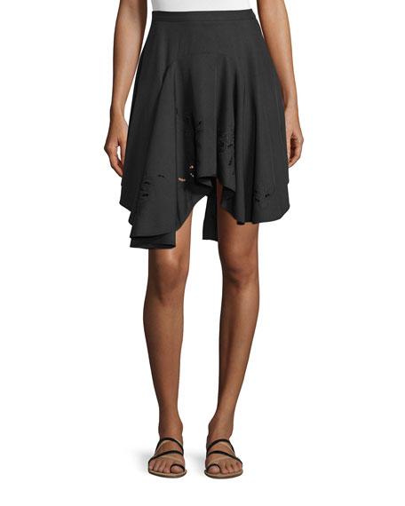 Halston Heritage Zip-Front Suede Jacket, Slim-Fit Silk Camisole