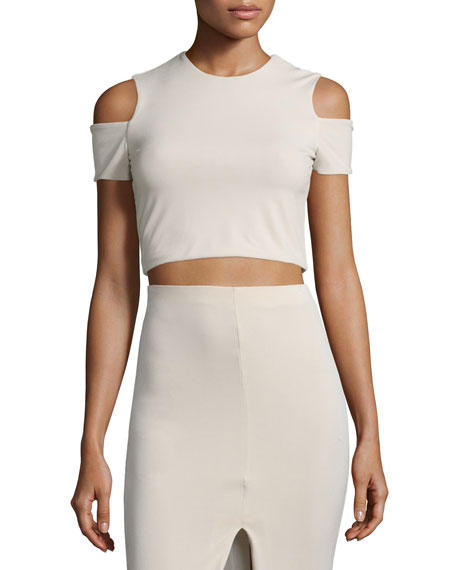 Alice + Olivia Vicki Cold-Shoulder Crop Top &