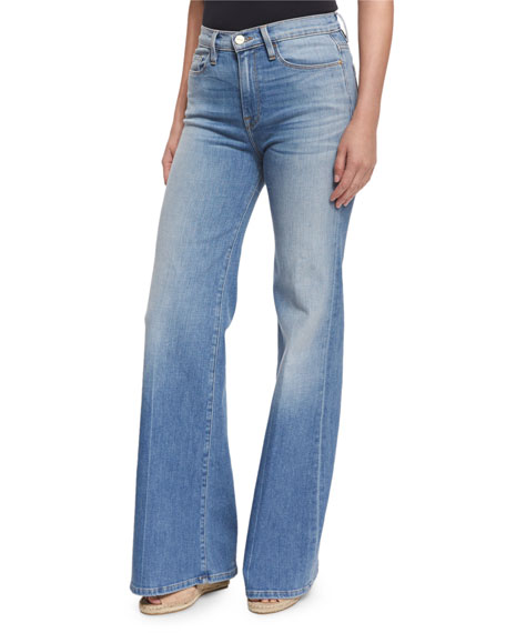 FRAME Le Capri Wide-Leg Jeans, Bellrock