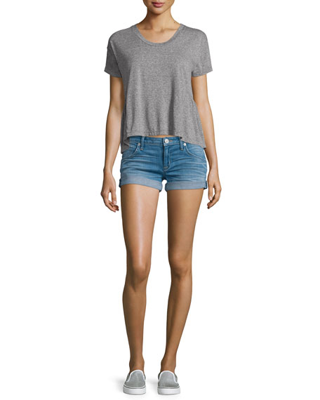 Croxley Rolled-Hem Denim Shorts, Sunbelt
