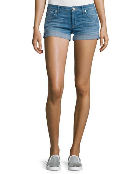 HudsonCroxley Rolled-Hem Denim Shorts, Sunbelt