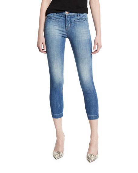 J Brand Jeans Skeyla Mid-Rise Super-Skinny Capri Jeans,