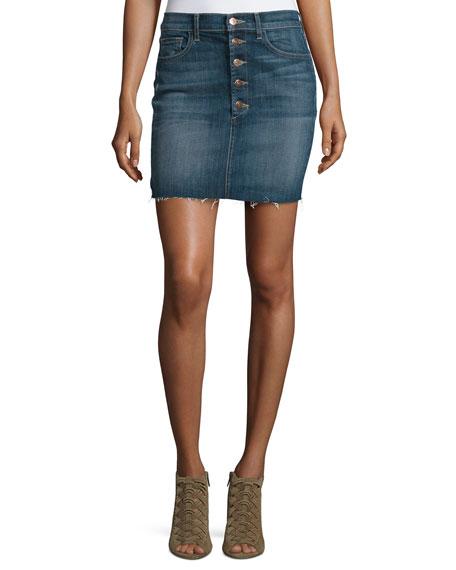 J Brand Rosalie Button-Front Denim Skirt, Isolated