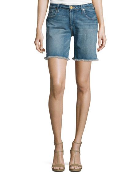 True Religion Emma Raw-Hem Denim Bermuda Shorts, Gypset
