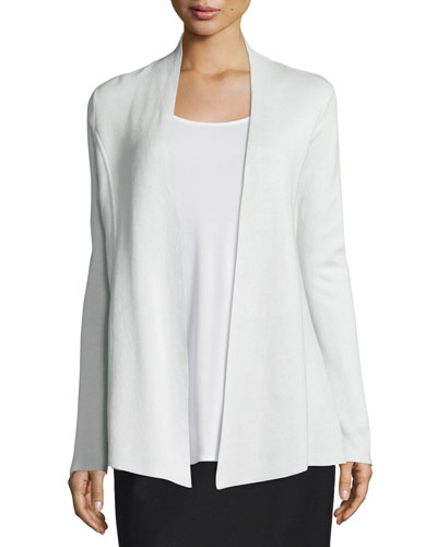 Silk-Organic/Cotton Open Cardigan, Women's