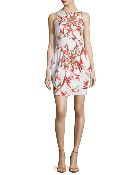 Nicole Miller ArtelierSleeveless Bird-Of-Paradise Sheath Dress,