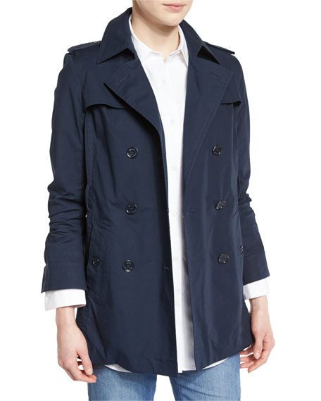 MICHAEL Michael Kors Double-Breasted Relaxed Trench Coat, New