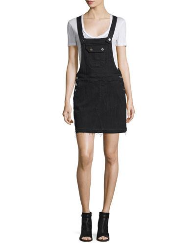 Denim Overall Dress, Black Sands Broke