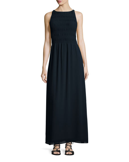 MICHAEL Michael Kors Sleeveless Smocked-Bodice Maxi Dress