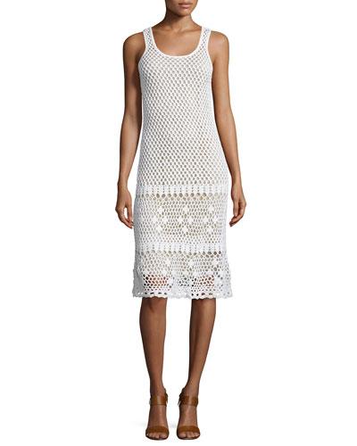 Sleeveless Crochet Sweater Dress