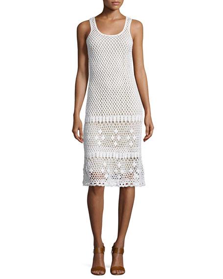MICHAEL Michael Kors Sleeveless Crochet Sweater Dress