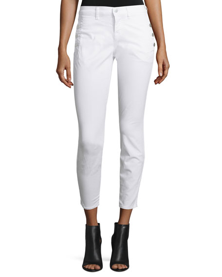 J Brand JeansXo Zion Mid-Rise Skinny Cropped Jeans,
