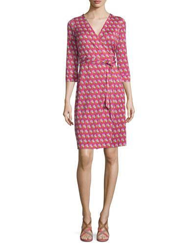 New Julian Two Zen Flora Wrap Dress, Pink