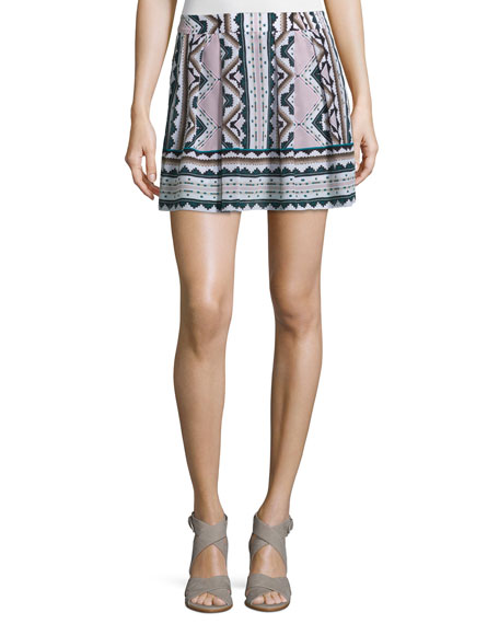 Nanette Lepore Printed Skort W/Pleats, Multi Colors