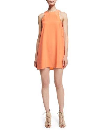 Allegra Sleeveless Mini Dress, Coral