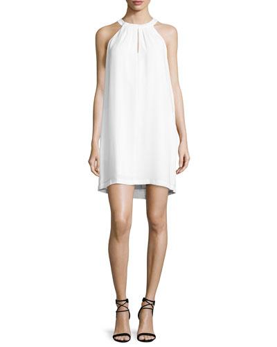 Tristyn Sleeveless Keyhole Dress, White
