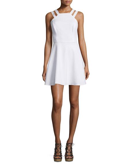 French Connection Whisper Light Sleeveless Dress, White