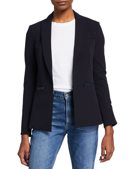 Veronica Beard Bi-Stretch Scuba Jacket, Navy