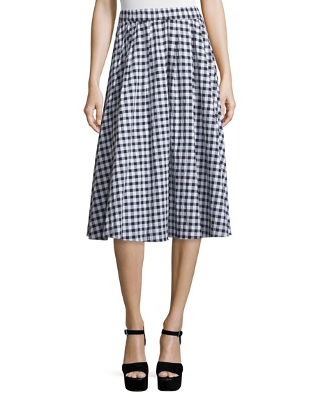 Gingham Seersucker Full Skirt