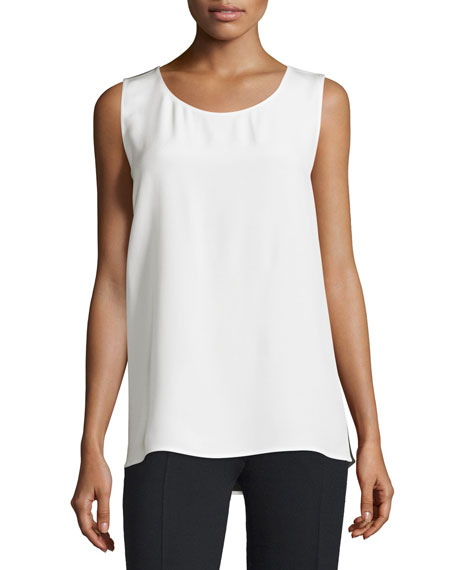 CoSTUME NATIONAL Round-Neck Two-Tone Tank, Optic White