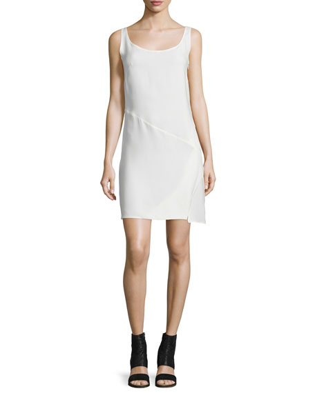 CoSTUME NATIONAL Sleeveless Bias-Cut Sheath Dress, Optic White
