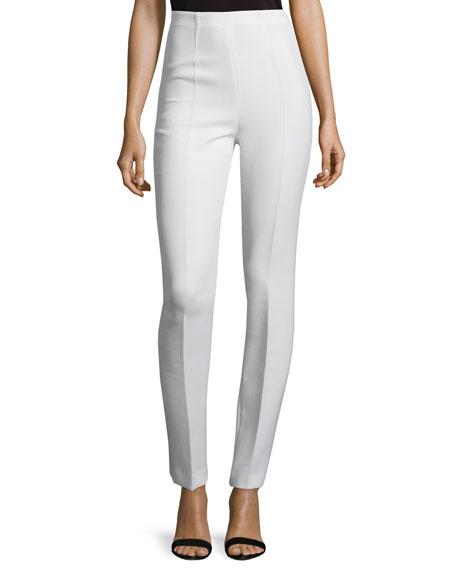 CoSTUME NATIONAL High-Waist Skinny Trousers, White