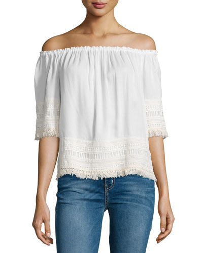 Lilita Off-The-Shoulder Top, White