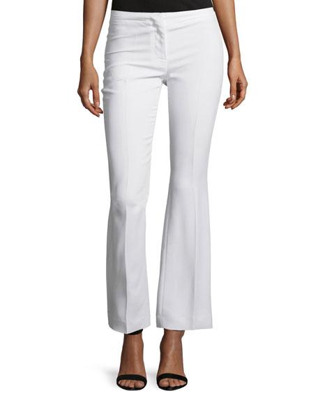 Costume National Mid-Rise Flare-Leg Pants, White