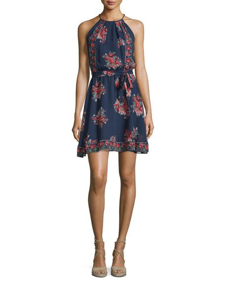 Joie Valletta Floral-Print Silk Georgette Dress