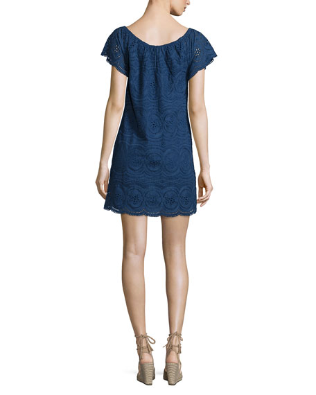 Bondi Embroidered Eyelet Dress
