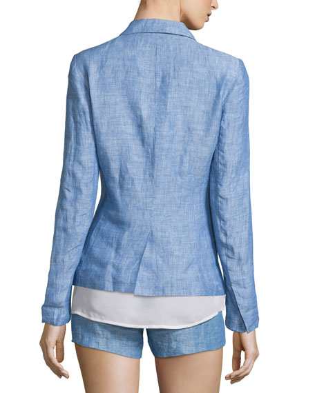 Pernilla Chambray Linen Blazer Best Reviews