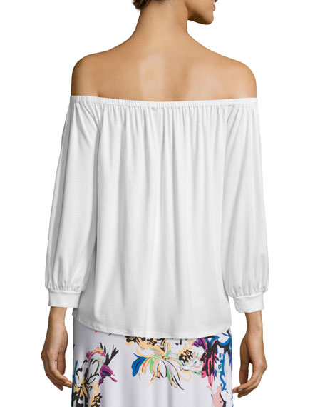 Ayumi Off-the-Shoulder Top, White