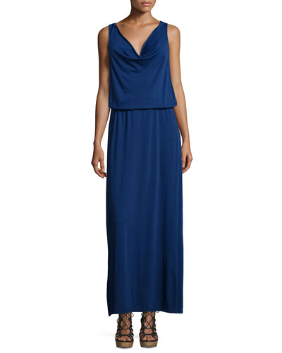 Balen Drape-Neck Maxi Dress