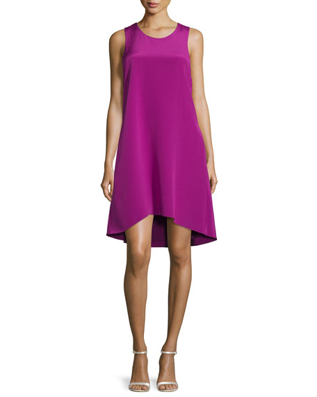 3.1 Phillip Lim Sleeveless Ruffle-Trim Silk Shift Dress,