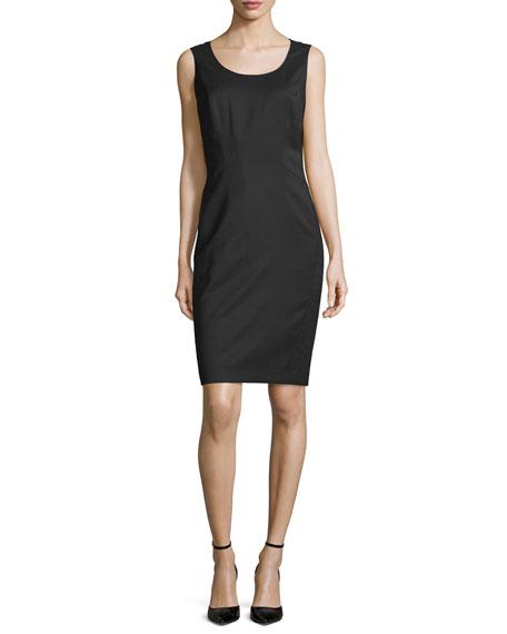 Lafayette 148 New York Ayiana Micro-Dot Sleeveless Sheath Dress, Black/Multi
