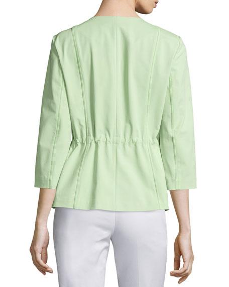 Dayle 3/4-Sleeve Jacket, Mint