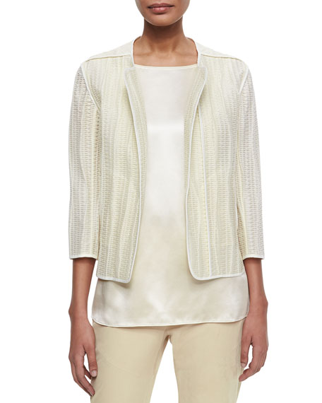 Lafayette 148 New York Charlane Textured Open Topper Jacket