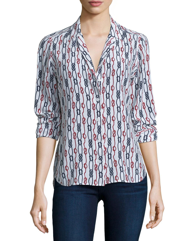 74a481e22a5e3 Equipment Adalyn Long-Sleeve Printed Shirt