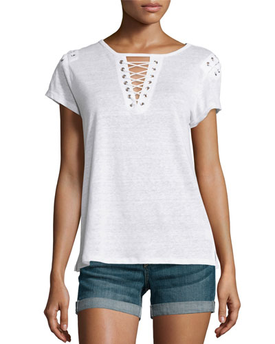 Hugo Lace-Up T-Shirt