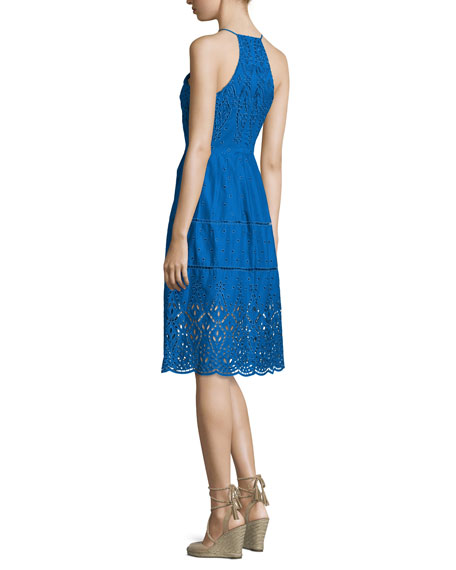 Parker Alana Embroidered Eyelet Dress, Glacius