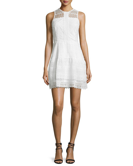 Parker Nerissa Sleeveless Lace Dress, Ivory
