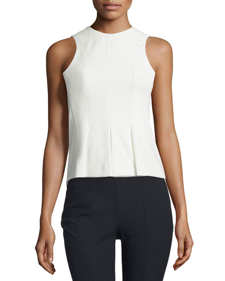 T by Alexander WangSleeveless Paneled Stretch Twill Top,