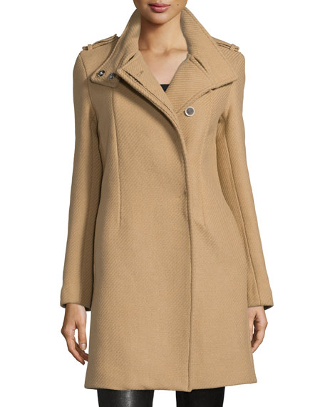 CoSTUME NATIONAL Button-Front Textured Trench Coat, Tan