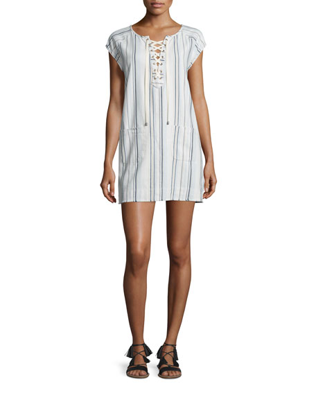 Velvet Darice Lace-Up Shift Dress, Multi Colors