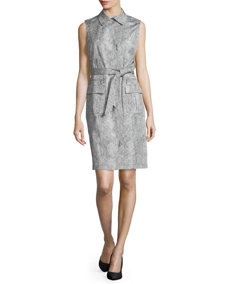 Lafayette 148 New York Starla Sleeveless Belted Dress,