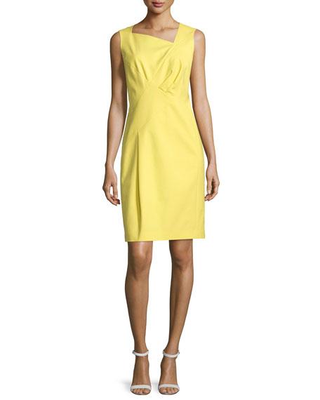 Lafayette 148 New York Melanie Sleeveless Sheath Dress, Citron