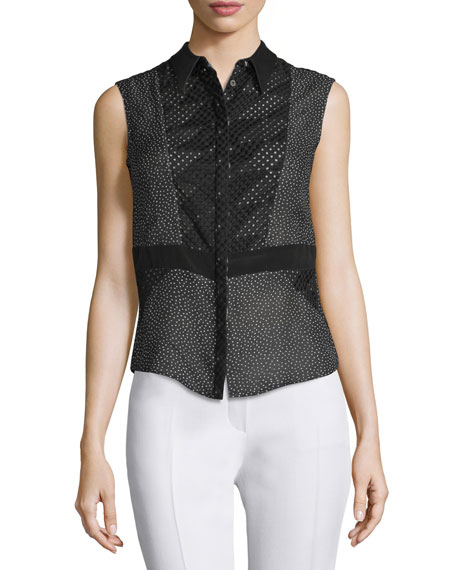 CoSTUME NATIONAL Sleeveless Mini Dot-Print Top, Multi
