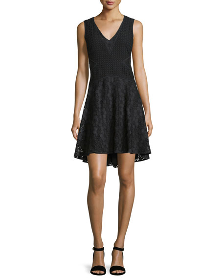 Diane von Furstenberg Fiorenza Sleeveless Lace A-Line Dress,