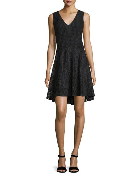 Diane von Furstenberg Fiorenza Sleeveless Lace A-Line Dress,